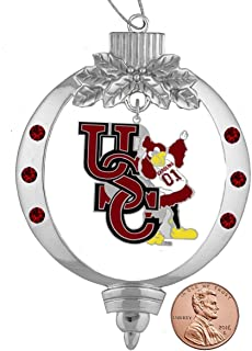 Final Touch Gifts University of South Carolina Cocky Mascot Christmas Ornament