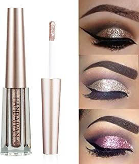 GL-Turelifes Diamond Glitter Liquid Eyeshadow & Eyeliner Pen Starry Sequins Mermaid Eye Shadow Long Lasting Shiny and Pigmented Waterproof Sparkling &Shimmer Eyes Makeup(#10 Coffee)