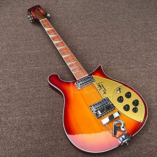 MLKJSYBA Guitarra 12 Cuerdas De Guitarra Eléctrica Laca Roja Con'r 'Oro Acústico Acero Guitarras De Cuerda Guitarras acústicas (Color : Guitar, Size : 40 Inches)