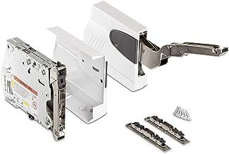 Gedotec FREE FLAP 3.15 Herraje de puerta abatible para muebles de cocina color blanco 1 pieza, para puertas de madera, modelo G: 6,9-27,3 kg