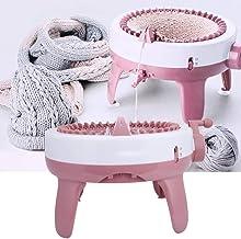 Máquina de Tejer Redonda, Telar Redondo de Bufanda/Sombrero Kit de Telar Giratorio de 40 Agujas de Doble Punto Herramienta de Costura de Regalo de Bricolaje, Juguete Educativo para Adultos niños