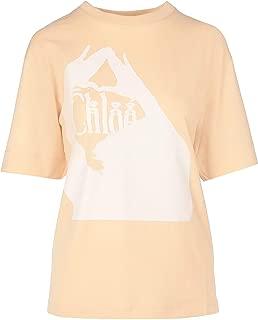 CHLOÉ Luxury Fashion Womens CHC20SJH031816K6 Pink T-Shirt  