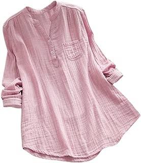Spbamboo Women Plus Size Pure Color Pocket Cotton and Linen Loose Long Dress