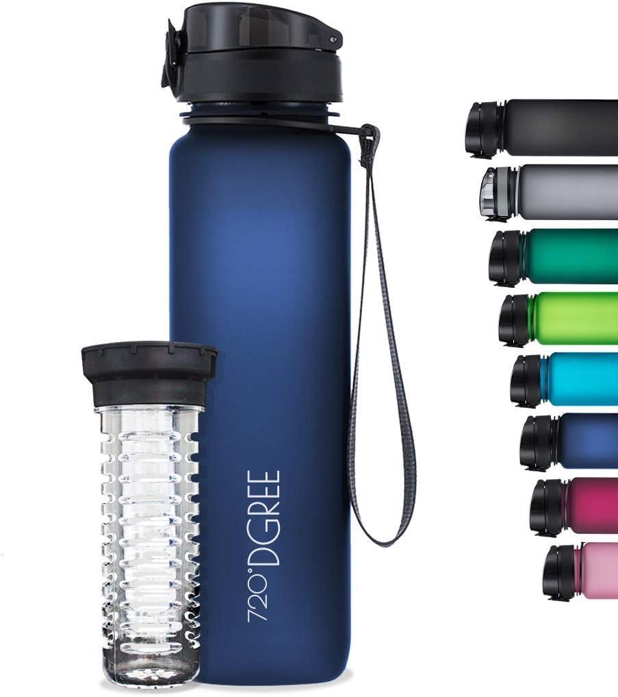 """Amazon Prime - 720°DGREE Trinkflasche """"uberBottle"""" (softTouch +Früchtebehälter - 1L - BPA-Frei - Wasserflasche für Sport, Fitness, us.) ab 14,xx€"""