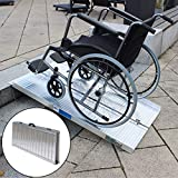 Rollstuhlrampe verschiedene Größen 272 kg klappbar Alu Auffahrrampe Verladerampen Rampe (122cm)