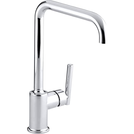 Kohler K 7507 Cp Purist Primary Swing Spout Kitchen Faucet Without Spray Polished Chrome Touch On Kitchen Sink Faucets Amazon Com