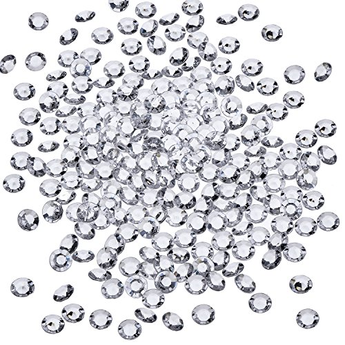 Sunmns 2500 Pack 6 mm Clear Acrylic Diamond Scatters Crystal Table Confetti for Weddings, Bridal Shower, Birthdays, Party, Romantic Dinner