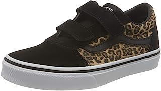 Vans Ward V-Velcro Suede, Zapatillas Unisex bebé, Cheetah/Black/White, 17 EU