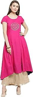 Varanga Women's Rayon a line Salwar Suit Set
