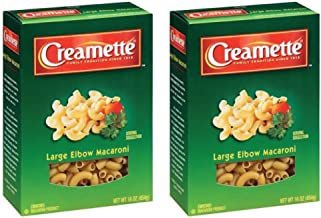 Creamette Large Elbow Macaroni Noodles Pasta, 16 Ounce (Pack of 2)