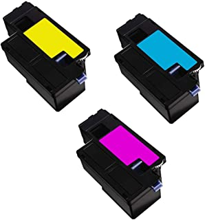 ADE Products Premium Compatible Replacements for Dell H5WFX 593-BBJU Cyan, Yellow, Magenta Toners, for Dell E525w, Dell E525 Multi-Function Printers
