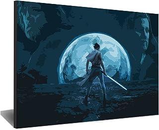 Visionpz Peinture par numéros pour Adultes Star Wars: The Rise of Skywalker Rey Peinture Acrylique Bricolage Kit de Peintu...