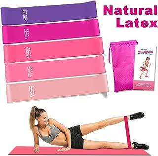 Rantizon Bandas Elasticas Fitness Elásticas de Resistencia con Guía de Ejercicios, Set de 5 Bandas para Yoga/Crossfit/Entrenamiento de Fuerza/Pilates/Fisioterapia [Set de 5]