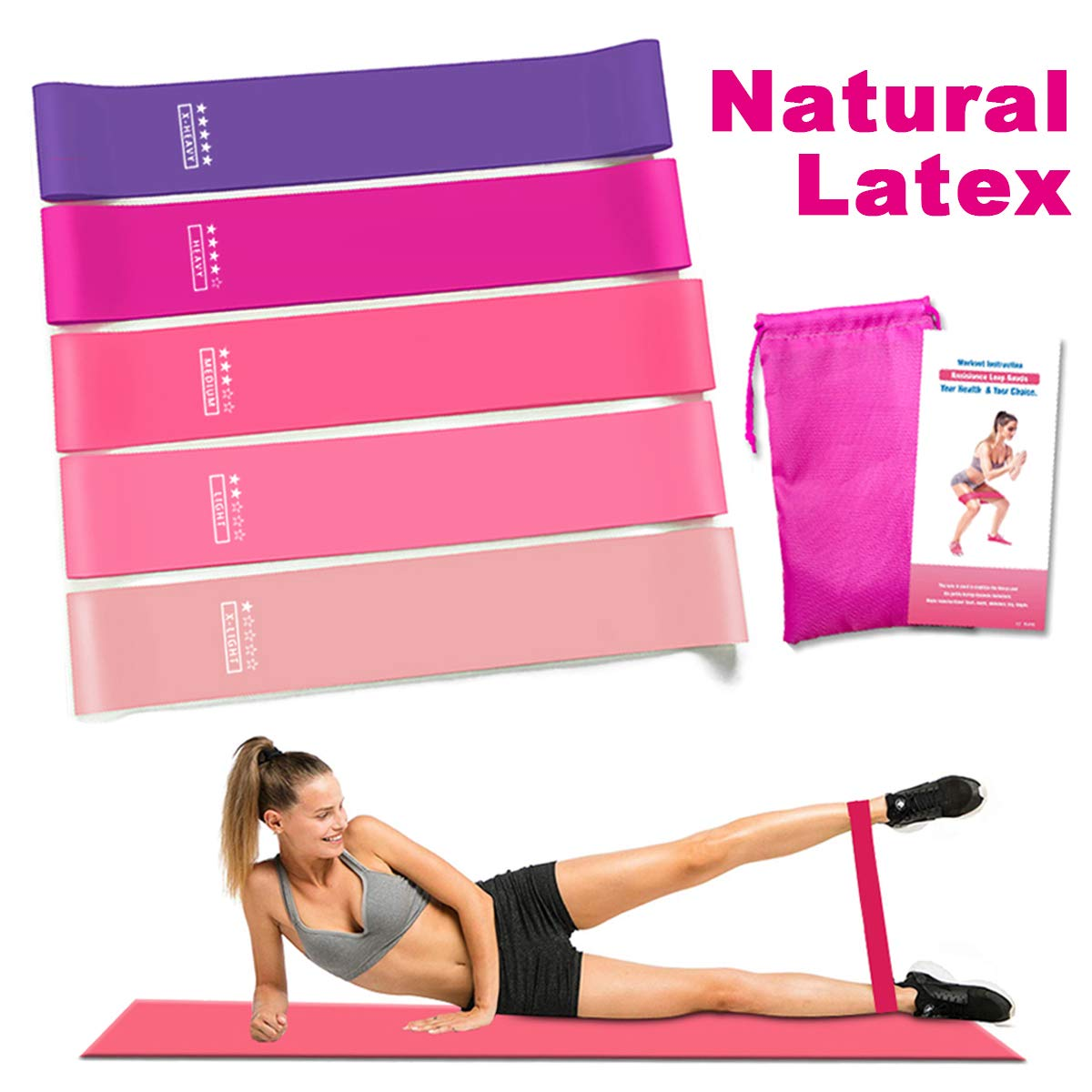 Amonax Resistance Bands Set for Women and Men Exercise Fitness Gym Bands for