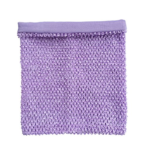 Lavender Crochet Tutu Top Lined 12 Inches X 10 Inches Elastic Crochet Tube Top