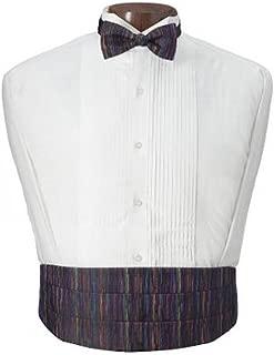 Multicolor Mardi Gras Tuxedo Cummerbund and Bow Tie Set