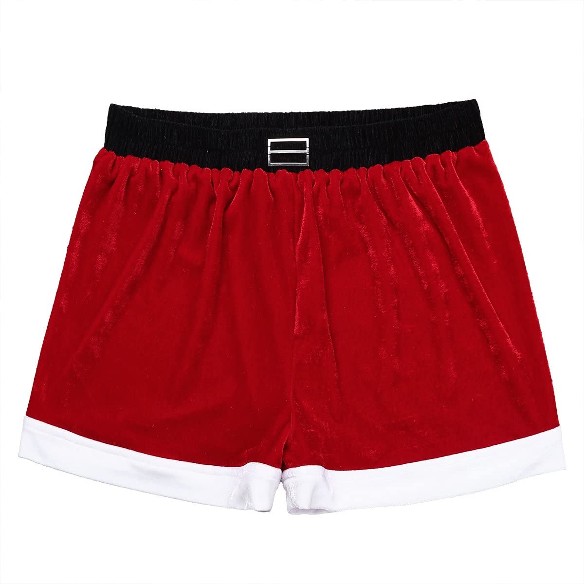 Hedmy Mens Flannel Virginia Beach Mall Christmas Holiday Claus Boxer Trunks Sh Santa Outlet sale feature