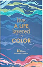 """Best Erin Condren Layers Sticker Book - 12 Sticker Sheets (529 Stickers Total) - Colorful Layers Design Theme, Folio Friendly Size 5"""" x 7.75"""" - Washi Tape, Collection of Metallics, Quotes Review"""