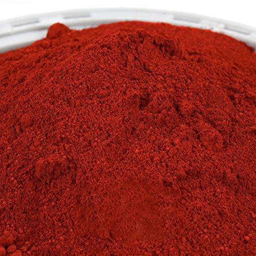 @tec Premium Pigmentpulver, Eisenoxid, Oxidfarbe - 25kg Sack (6,20 Euro/kg) Farbpigmente/Trockenfarbe für Beton + Wandfarbe / Tolle Akzente in Haus und Garten / Pigmentfarbe: ziegelrot / rot
