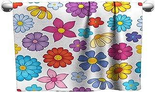 Tankcsard Style Towel Seamless Background Flower Theme 7,Hanging Towel Rack for Bathroom