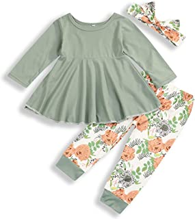 bilison Toddler Baby Girl Clothes Long Sleeve Letter Print Hoddie Sweatshirt Tops and Floral Pants 2Pcs Winter Outfits Set