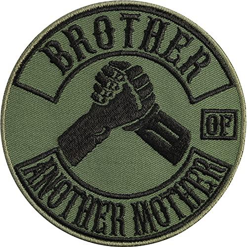Divertido parche moral: Brother of Another Mother Mother Parche, imagen de motero, adhesivo rockero, regalo para mejor amigo, aplicación para chaqueta/chaleco/jeans, 90 x 90 mm