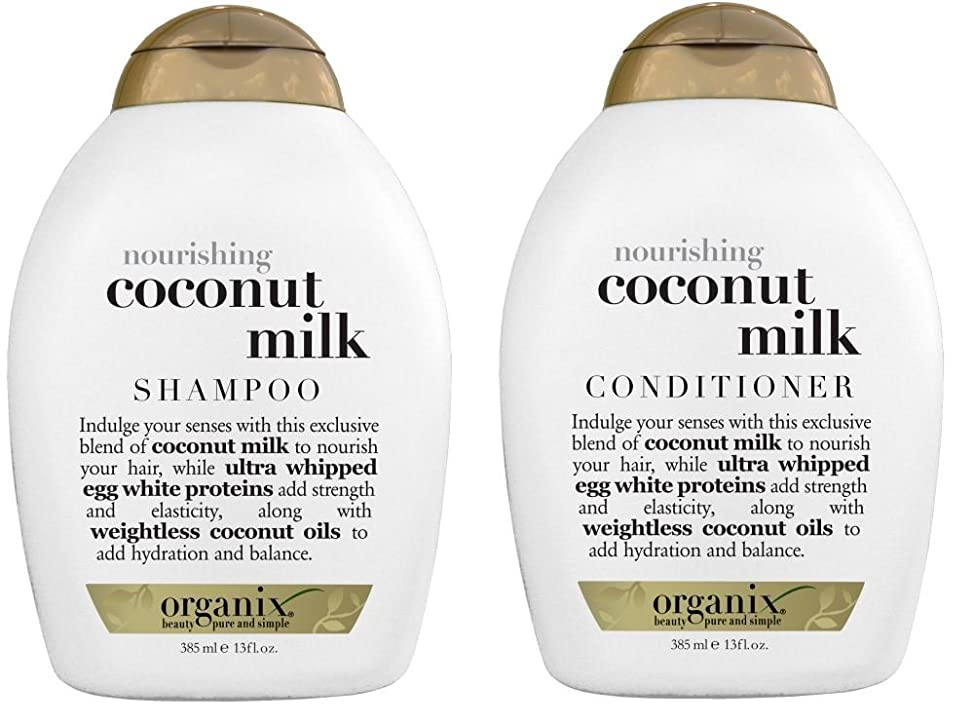 Organix Nourishing Coconut Milk Shampoo + Conditioner (combo Pack), 19.5 Ounce
