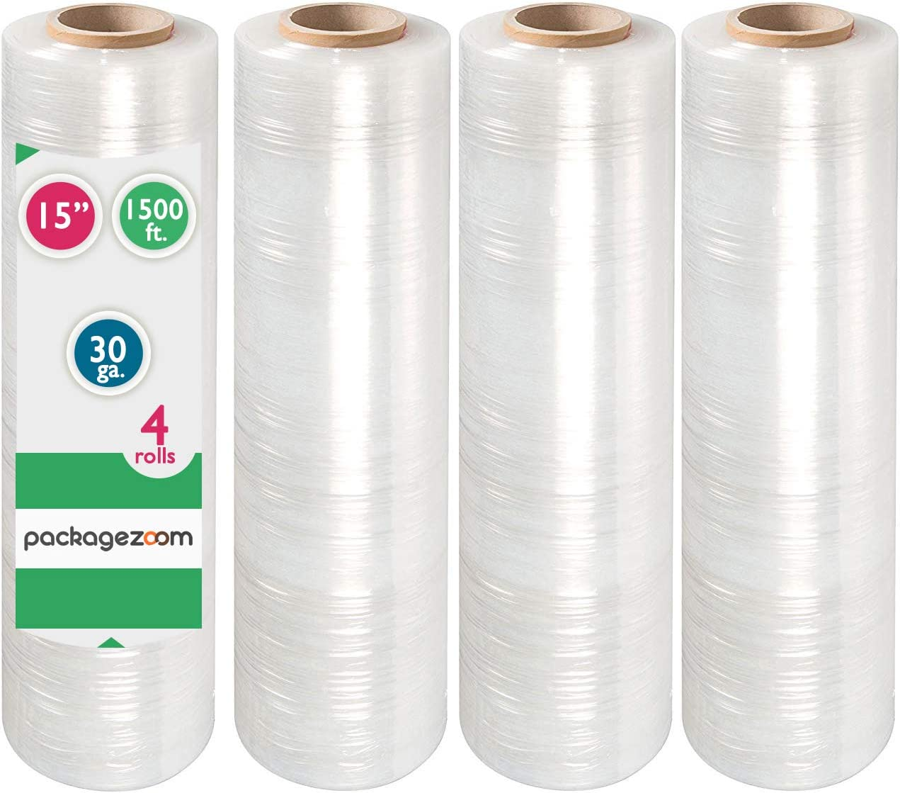 """PackageZoom Price reduction Fixed price for sale Pre Stretched 15"""" x 1500 ft Wra Stretch 4 Rolls"""