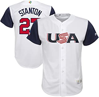 Giancarlos Stanton USA 2017 World Baseball Classics Official White Youth Replica Jersey