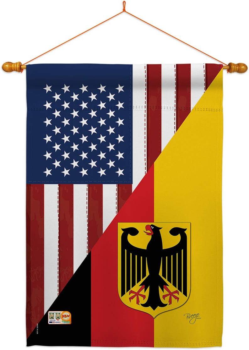 US Friendship German House Flag Regional USA American Dowel Set バーゲンセール 公式