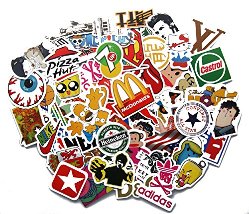 Stickerbomb Mega Mix aus 100 Retro- und Sponsoren- Sticker/Aufkleber - Auto-Dress ¬
