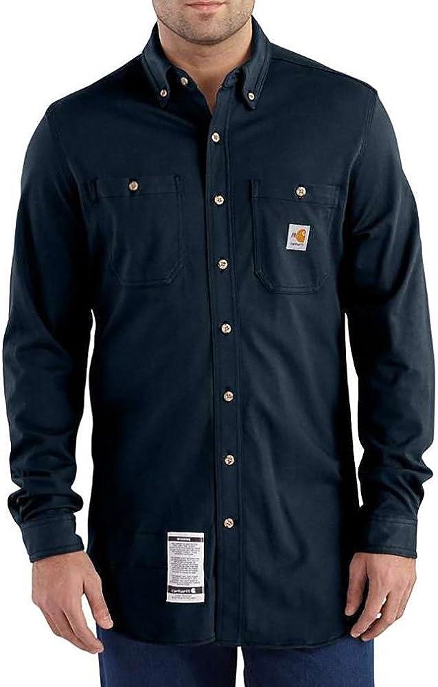 Carhartt Men's Flame Resistant Force Cotton Hybrid Shirt Direct Kansas City Mall store