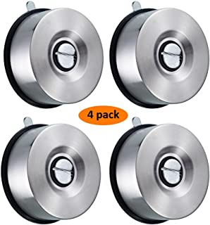 Suction Cup Stainless Steel Magnetic Knife Holder Removable Magnets Tool Holder for Kitchen and Home 4PCS