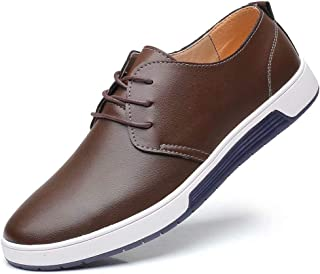 Men's Casual Oxford Shoes - Breathable Dress Shoes Loafers Lace-up Flat Sneakers
