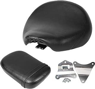 Ambienceo Front Rear Driver Passenger Seat Bracket Set Backrest Seat Cushion Pad Front seat for Honda Shadow Spirit VT750 ACE VT750C VT750CD 1998-2003 19998 1999 2000 2001 2002 2003