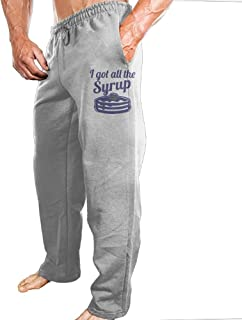 Mens Sports Pants Breakfast Syrup Sweatpants With Fashion Protruding-body Design For Shopping Four-Seasons Casual Pants