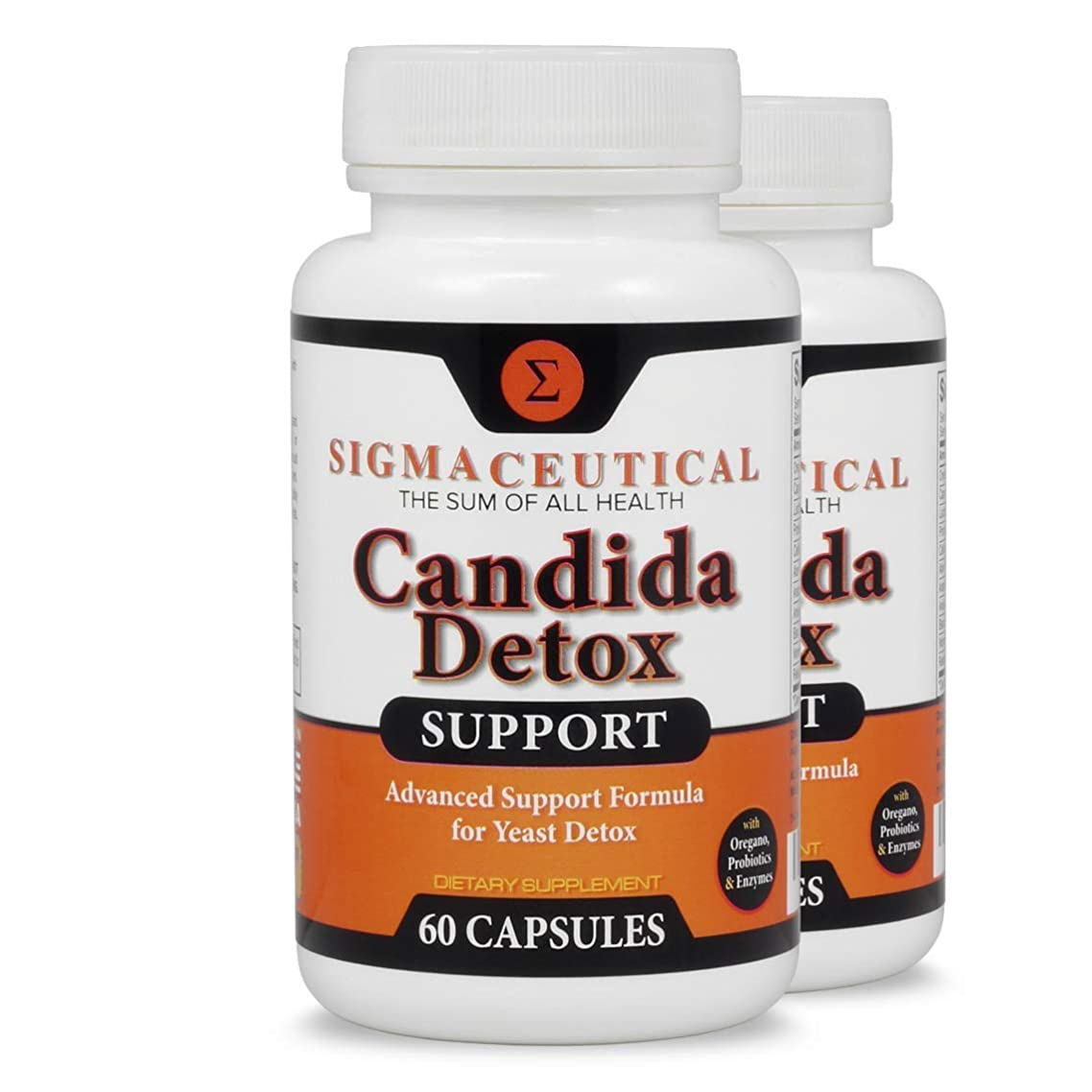 2 Pack of Candida Cleanse - Yeast Infection Treatment - Oral Thrush Treatment - Organic Probiotic Support - Ultimate Cleanser for Men and Women - Free Candida Diet eBook - 60 Capsules Each