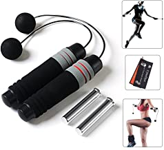 CyberDyer Weighted Ropeless Jump Rope Tangle Free Crossfit Speed Rope Endurance Training Boxing MMA Suitable You Your Kids