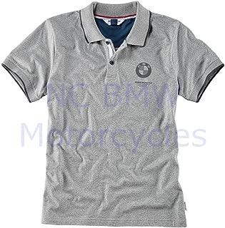 BMW Genuine Motorrad Polo Men Shirt Gray L Large