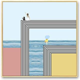 WYH Peinture décorative de qualité supérieure pour chambre d'enfant, style minimaliste, moderne, pour chambre à coucher, c...