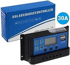 Fesjoy 10A //20A 12V 24V Solar Charge Controller Charge Regulator Intelligent for Solar Panel Battery Lamp LED Lighting Overload Protection