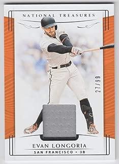 Evan Longoria 2019 Panini National Treasures JSY #92 NM-MT #27/99 Giants Baseball MLB
