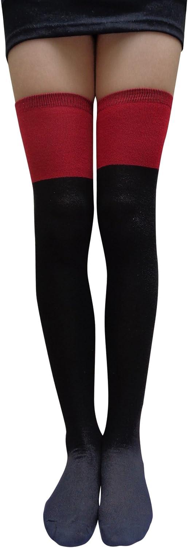 AM Landen Womens Girls Wool Blend Over Knee Thigh High Socks Stockings