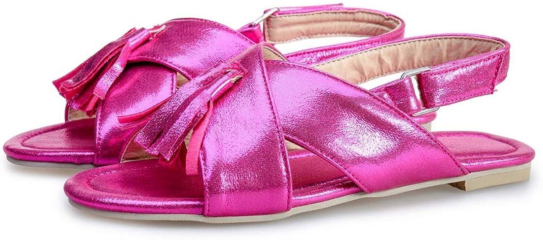 Women Flat Sandals Open Toe Ladies Tassel shoes Ankle Strap Buckle Breathable Female Party Footwear