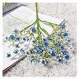 YTNGYTNG Flores Artificiales Single Branch Color Milan Gypsophila Flor Artificial Flowa Flowak Wholesale Novia Bouquet Body Set Hecho a Mano DIY (Farbe : 3)