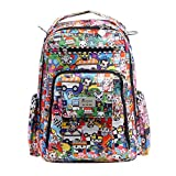 JuJuBe Be Right Back Multi-Functional Structured Backpack/Diaper Bag, Tokidoki Collection - Sushi Cars