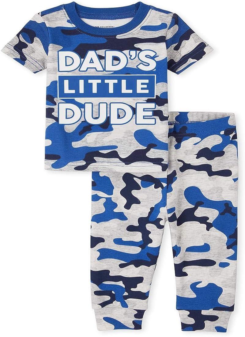 The Children's Place Baby Boys' Dad Camo Two Piece Pajama Set
