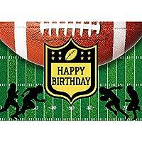 Allenjoy 7×5フィート アメリカンフットボールテーマ 誕生日背景 ディッシュフィールド キッズ ボーイズ 写真背景 スーパーボウル スポーツ ゲーム デーパーティー タッチダウン壁装飾 写真ブース小道具