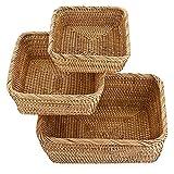 SUMTree - Cestino per la frutta, in vimini per biscotti, pane, frutta (quadrato)