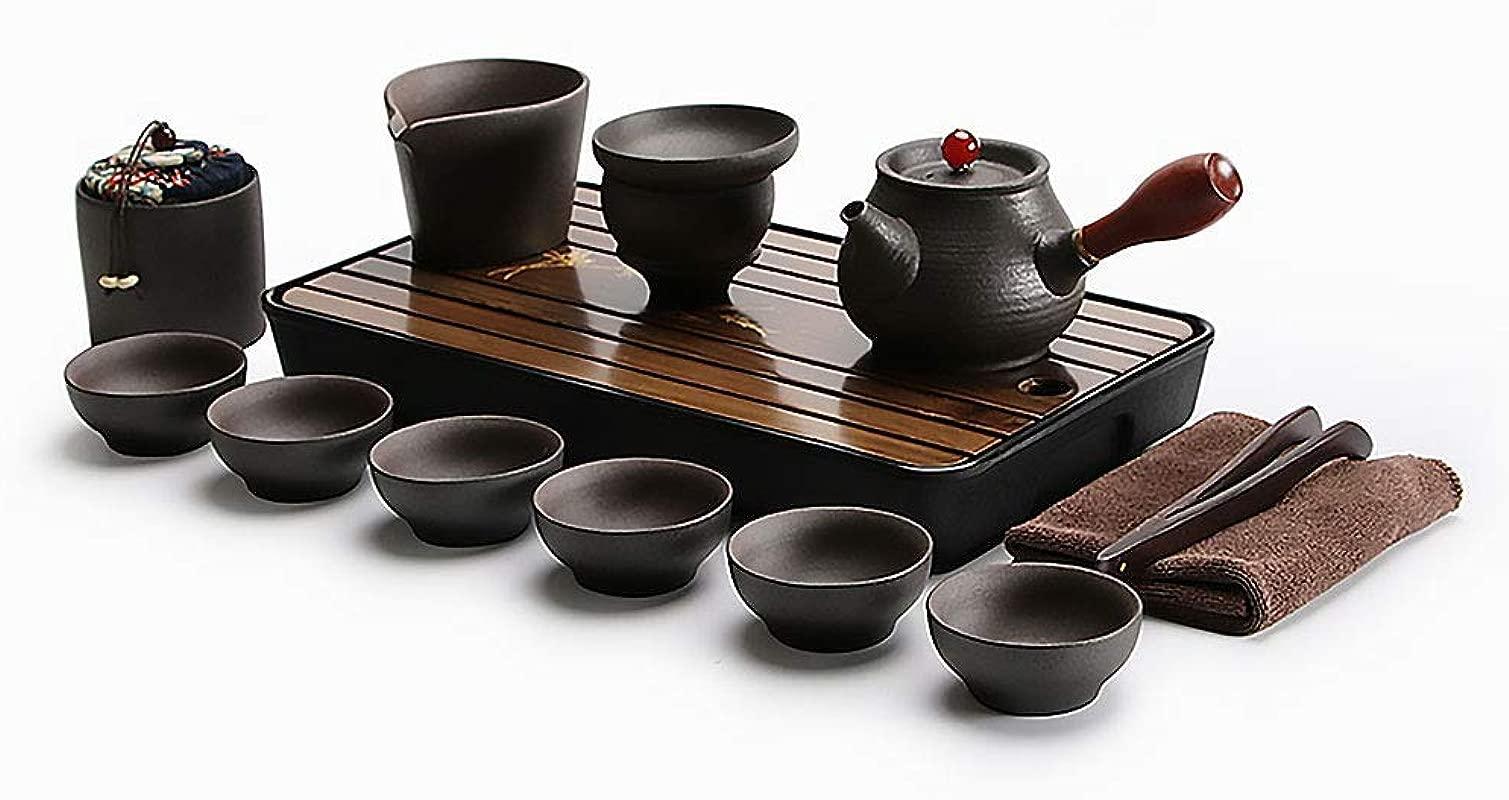 Ecomojiware Chinese Kungfu Tea Set Portable Travel Tea Set Porcelain Handmade Chinese Traditional Ceramics SH CJ M2